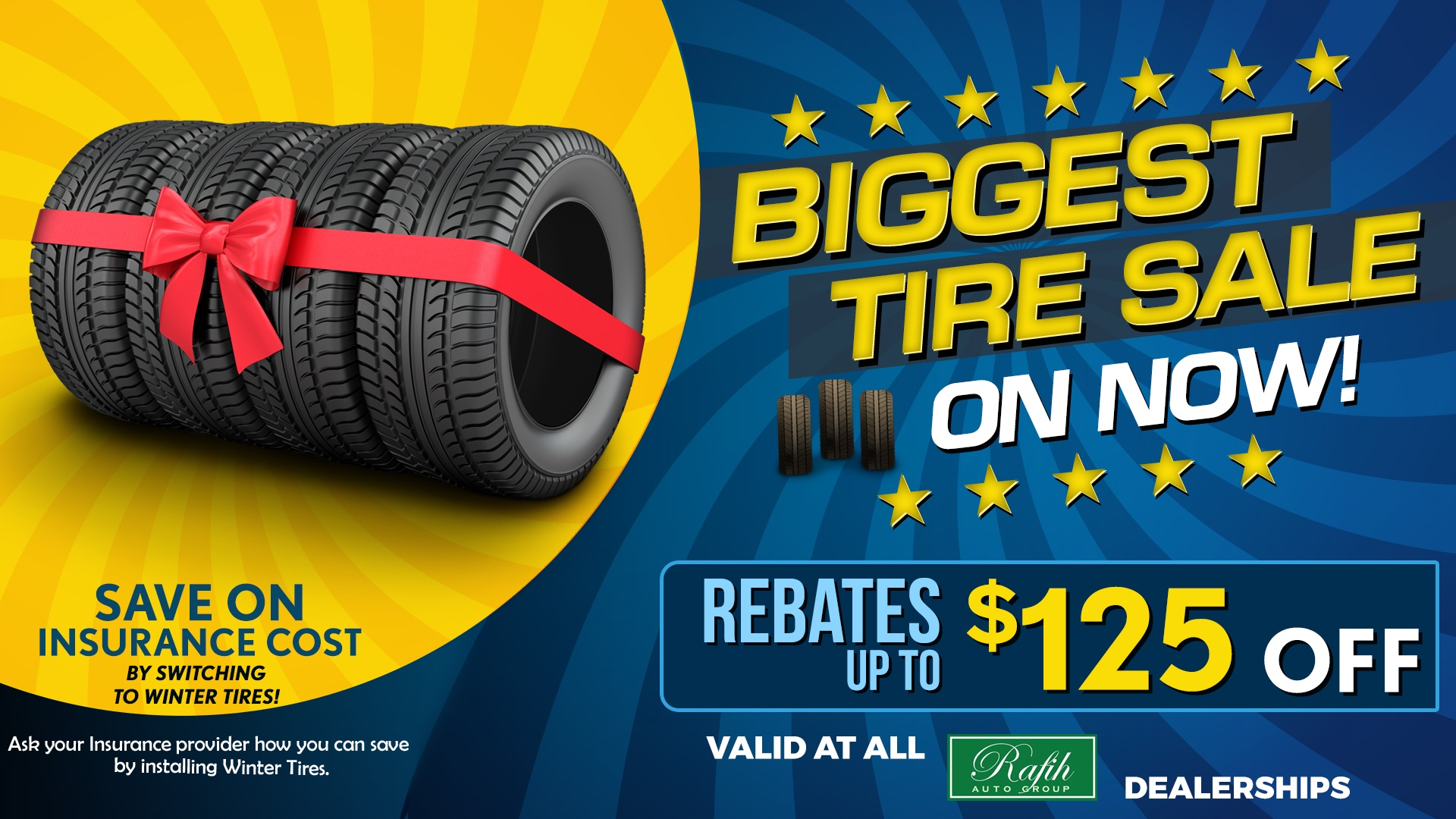 Biggest Tire Sale on Now!