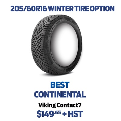 205/60R16 WINTER TIRE OPTION